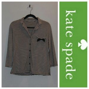 Kate Spade Striped Button Up